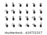 gesture icons for touch devices | Shutterstock .eps vector #614721317