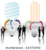 bulbs and people | Shutterstock .eps vector #61472443