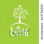 earth day tree creative eco... | Shutterstock .eps vector #614726333
