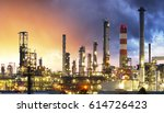 oil industry refinery factory... | Shutterstock . vector #614726423
