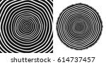 tree rings and saw cut tree... | Shutterstock .eps vector #614737457