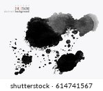 background with ink stains. ink ... | Shutterstock .eps vector #614741567