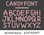 alphabet candy style vector art ... | Shutterstock .eps vector #614743397