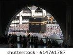 mecca  saudi arabia   january... | Shutterstock . vector #614761787