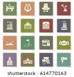 infrastructure vector icons for ... | Shutterstock .eps vector #614770163