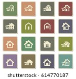 house type vector icons for... | Shutterstock .eps vector #614770187