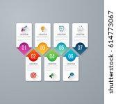 presentation slide template... | Shutterstock .eps vector #614773067
