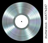 realistic platinum vinyl record ... | Shutterstock . vector #614776247