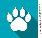 animal paw footprint vector... | Shutterstock .eps vector #614777813