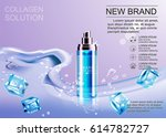 design cosmetics advertising... | Shutterstock .eps vector #614782727