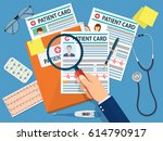 folder with patient card and... | Shutterstock .eps vector #614790917
