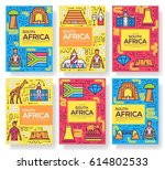 south africa vector brochure... | Shutterstock .eps vector #614802533