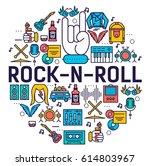 premium quality rock'n'roll... | Shutterstock .eps vector #614803967