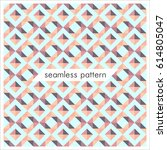 vector seamless geometrical... | Shutterstock .eps vector #614805047