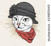 vector color sketch of elegant...   Shutterstock .eps vector #614805443