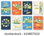 back to school information... | Shutterstock .eps vector #614807423