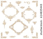 set collection of vector... | Shutterstock .eps vector #614835443