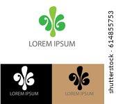 green leaf company logo | Shutterstock .eps vector #614855753