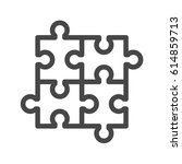 puzzle thin line vector icon.... | Shutterstock .eps vector #614859713
