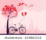 concept of love background for... | Shutterstock .eps vector #614861213