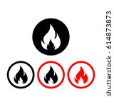 flame icon  fire icon  fire... | Shutterstock .eps vector #614873873