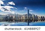 panorama of hong kong island... | Shutterstock . vector #614888927