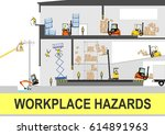 health and safety hazards. flat ... | Shutterstock .eps vector #614891963