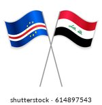 cabo verdean and iraqi crossed... | Shutterstock .eps vector #614897543