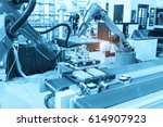 industrial machine and factory... | Shutterstock . vector #614907923