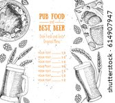 pub food menu  vector... | Shutterstock .eps vector #614907947