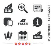natural fresh bio food icons.... | Shutterstock .eps vector #614912237
