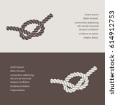 rope knot  icon | Shutterstock .eps vector #614912753