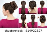tutorial photo step by step of... | Shutterstock . vector #614922827