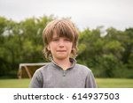 portrait of a boy | Shutterstock . vector #614937503