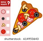 counting game for preschool... | Shutterstock .eps vector #614953643