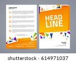vector abstract flyer template. ... | Shutterstock .eps vector #614971037