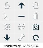 vector illustration of 12 user... | Shutterstock .eps vector #614973653