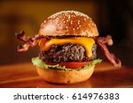 burger | Shutterstock . vector #614976383