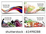 set of templates for business   ... | Shutterstock .eps vector #61498288