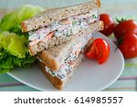 sandwich with italian salad   Shutterstock . vector #614985557