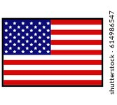 vector illustration of usa flag | Shutterstock .eps vector #614986547