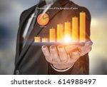 dynamics of market sales .... | Shutterstock . vector #614988497