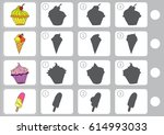 match shadow   worksheet for... | Shutterstock .eps vector #614993033