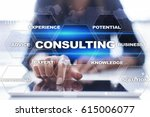 consulting business concept.... | Shutterstock . vector #615006077