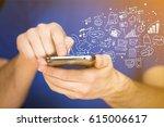 mobile apps. | Shutterstock . vector #615006617