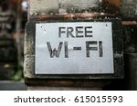 free wifi sign | Shutterstock . vector #615015593