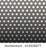 sacred geometry halftone... | Shutterstock .eps vector #615018677