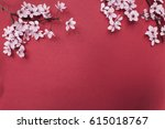 Red Paper Background With...
