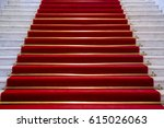 red carpet on marble stairway... | Shutterstock . vector #615026063