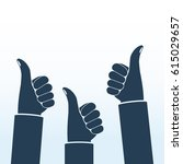 thumbs up silhouette. like icon ... | Shutterstock .eps vector #615029657
